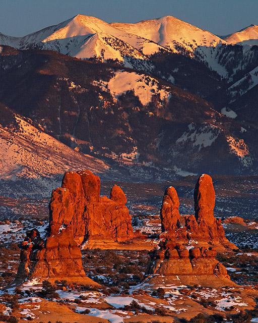 Arches - Pillars at Sunset