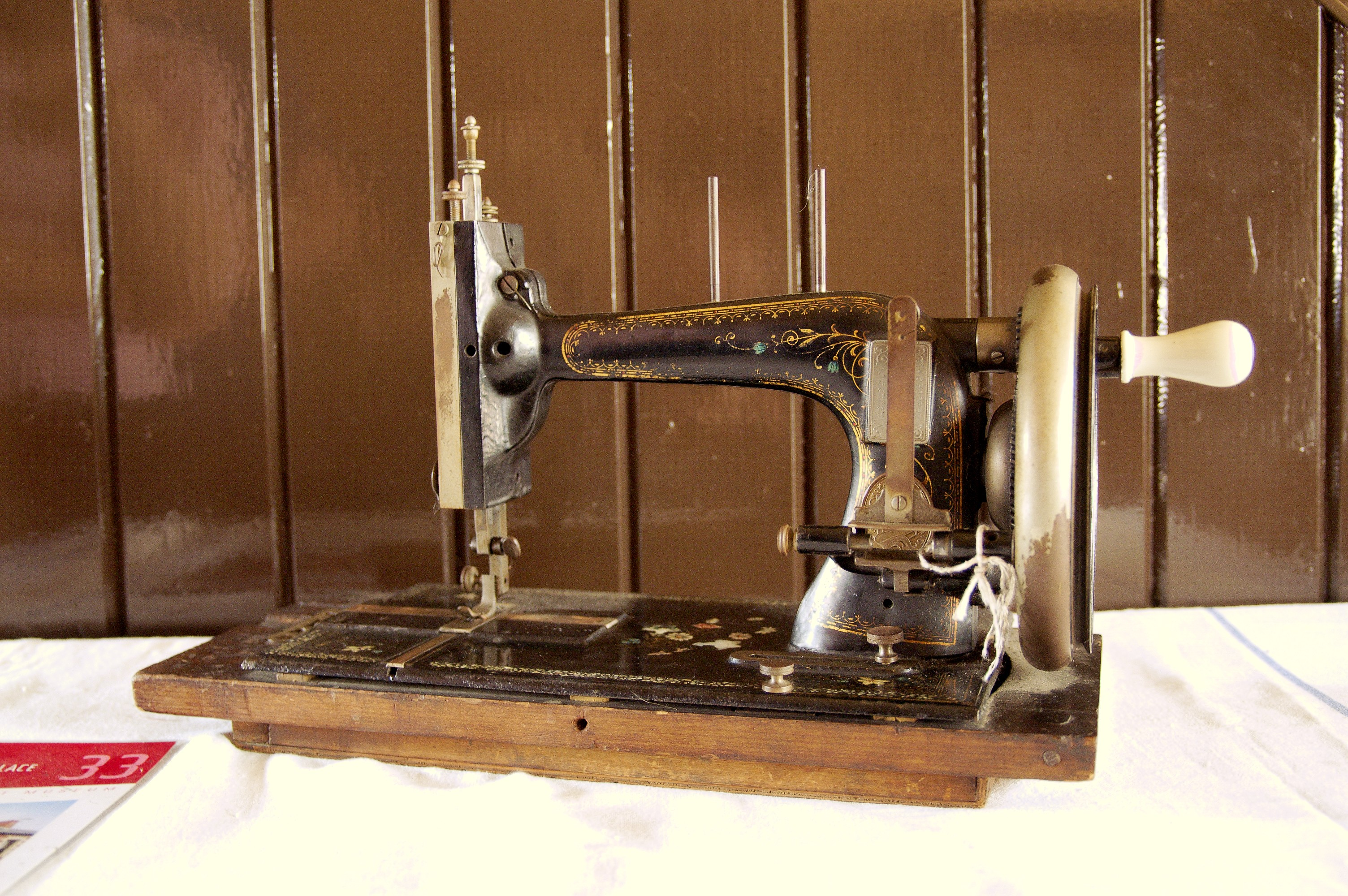 Contemporary sewing machine (hand driven)