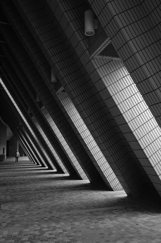 Walking thru a Trianguar Tunnel