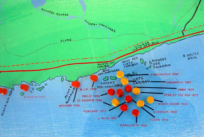 carte des naufrages