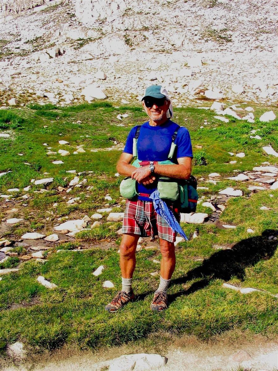 Reinhold Metzger at Lake Wanda, the John Muir Trail record holder
