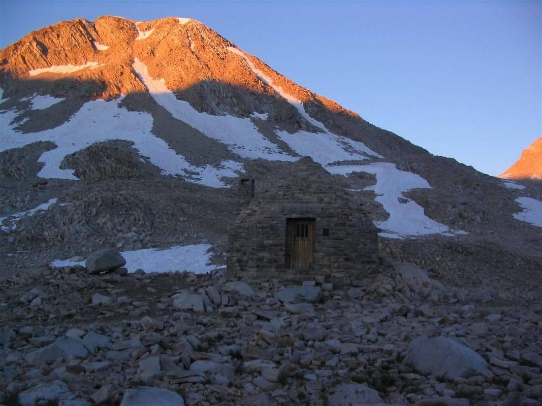 John Muir  Shelterand Mt Solomon at sunrise