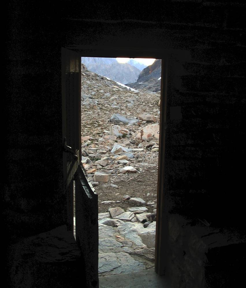 The Shelters doorway looking south bound