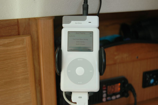 An iPod Is A Must Have Item On A Boat