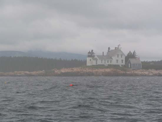 Entering Winter Harbor On A Foggy Day