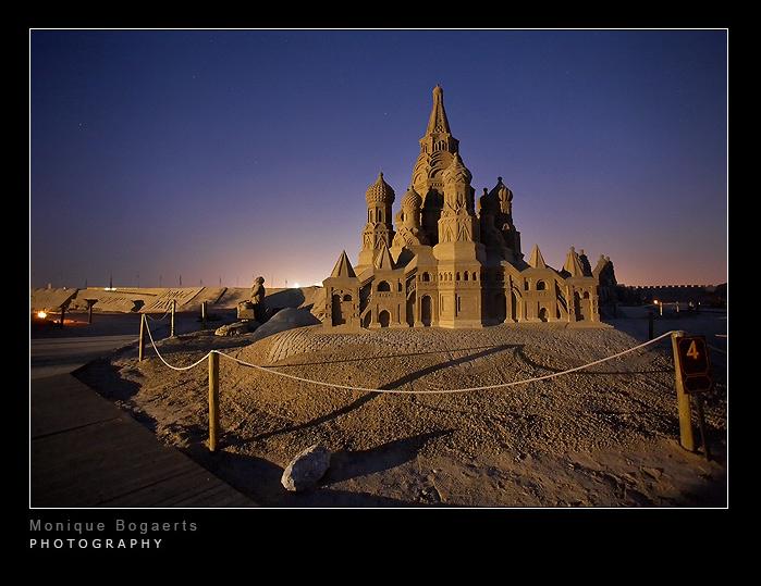 Sandsulptures at Night