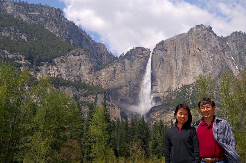 Yukiko and Me at Yosemite Fall