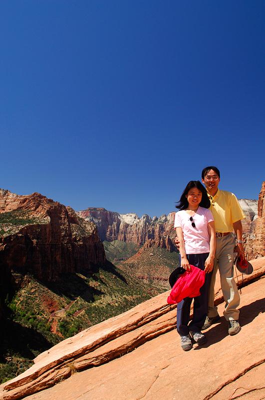 Yukiko and me at Canyon Over Look