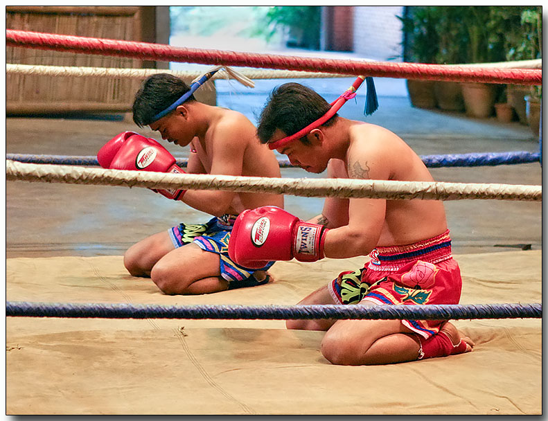 Prayers before Muay Thai