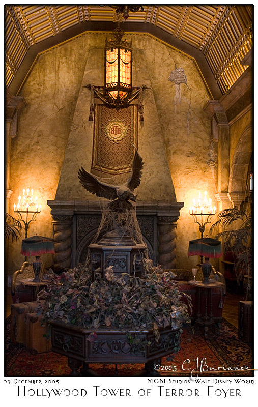 Hollywood Tower of Terror Foyer - 8244 03Dec05