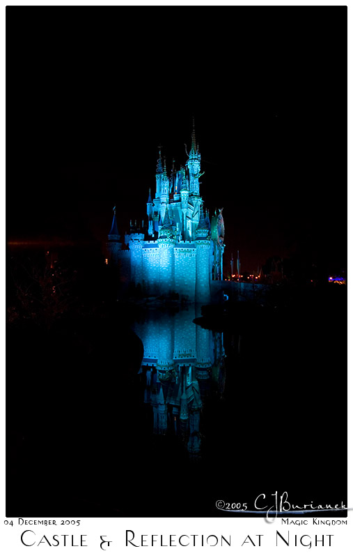 04Dec05 Castle and Reflection at Night - 8509