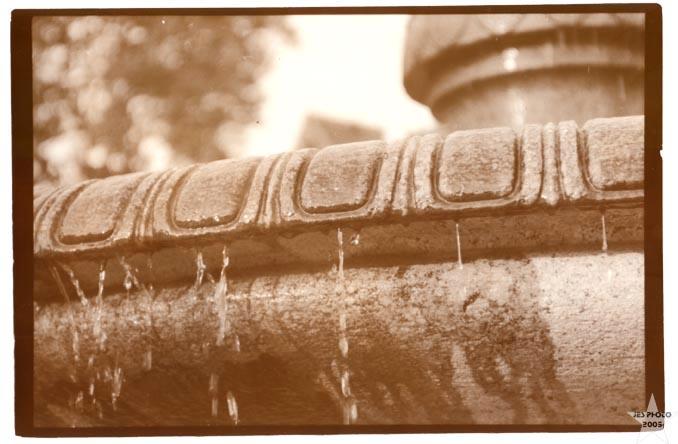 Fountain Sepia Toned