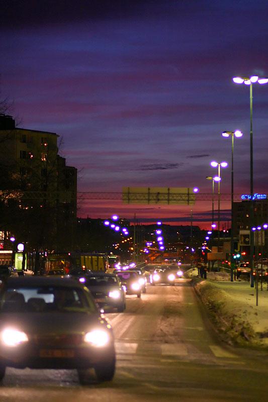 January 26: Evening traffic