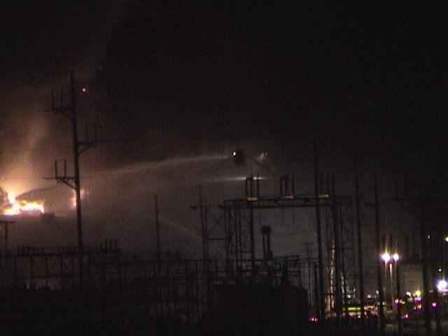 North Western Steel Wire Fire at Sterling, Illinois, Fire Fighters.jpg