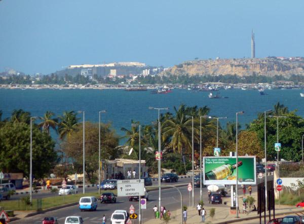 Rua da Samba with the Fortaleza São Miguel and the Mausoleum of Agostinho Neto