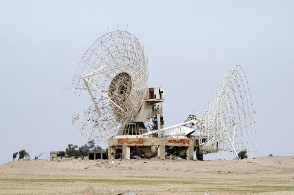 Destroyed Kuwaiti satellite station from the Gulf War