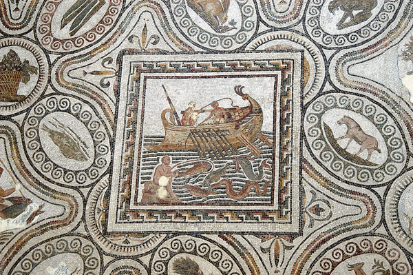 Detail from the Oceanus & Amphitrite mosaic