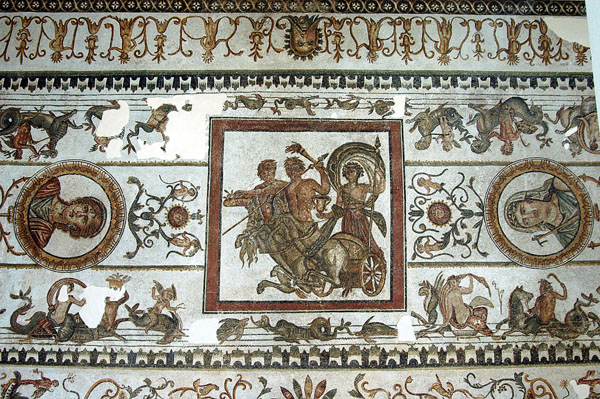 Mosaic from the Trajan Baths, Acholla (40 km north of Sfax) among the oldest in Roman Africa