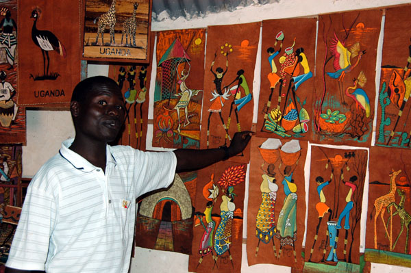 After the tour, the guide takes you to the shop to show you his artwork and that of the other guides