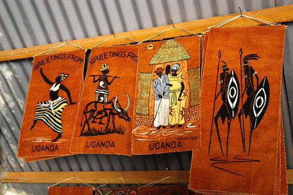 Bark cloth paintings at the Kasubi Tombs