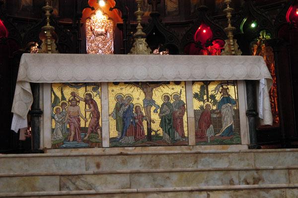 Mosaic covered altar, Anglican Cathedral, Zanzibar
