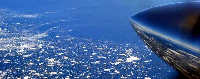 Leaving Churchill over the Hudson Bay