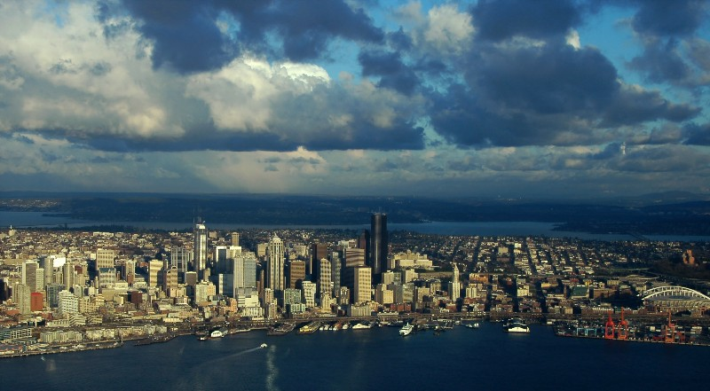 cloudy Seattle