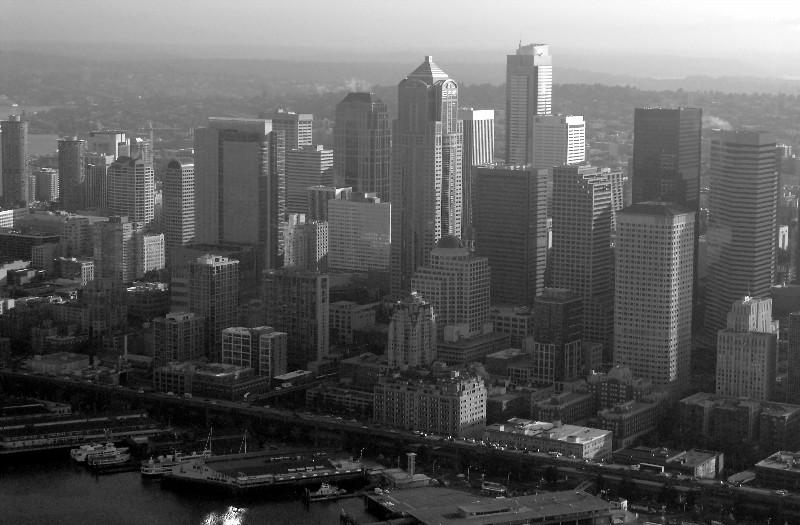 Seattle in the haze