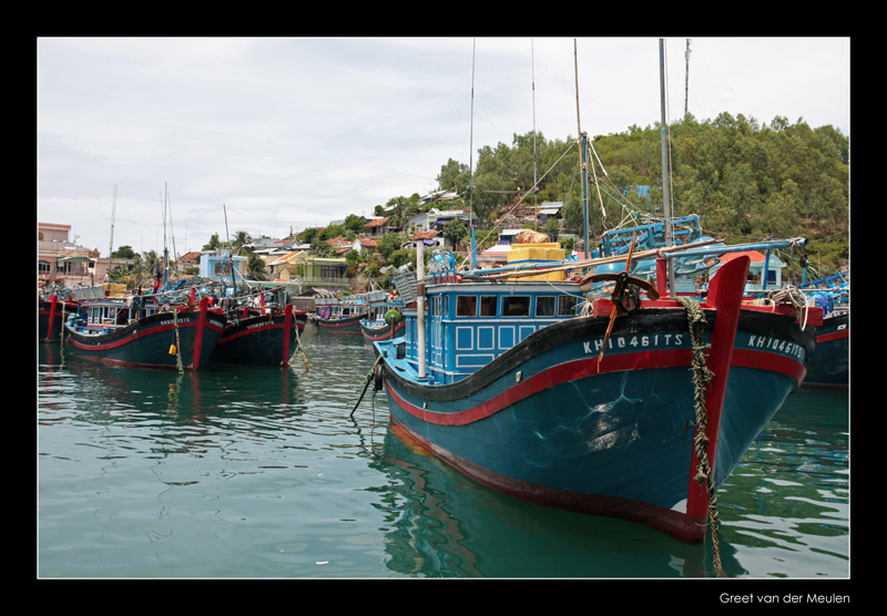 9660 Nha Trang, colourfull boats
