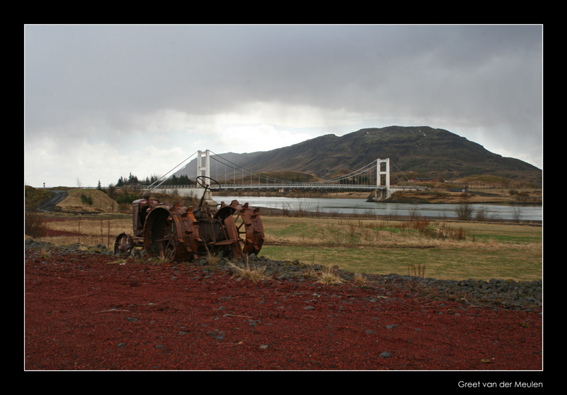 1192 rusty tractor in Icelandic landscape