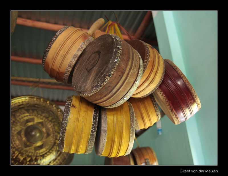 9108 Vietnam drums on the ceiling