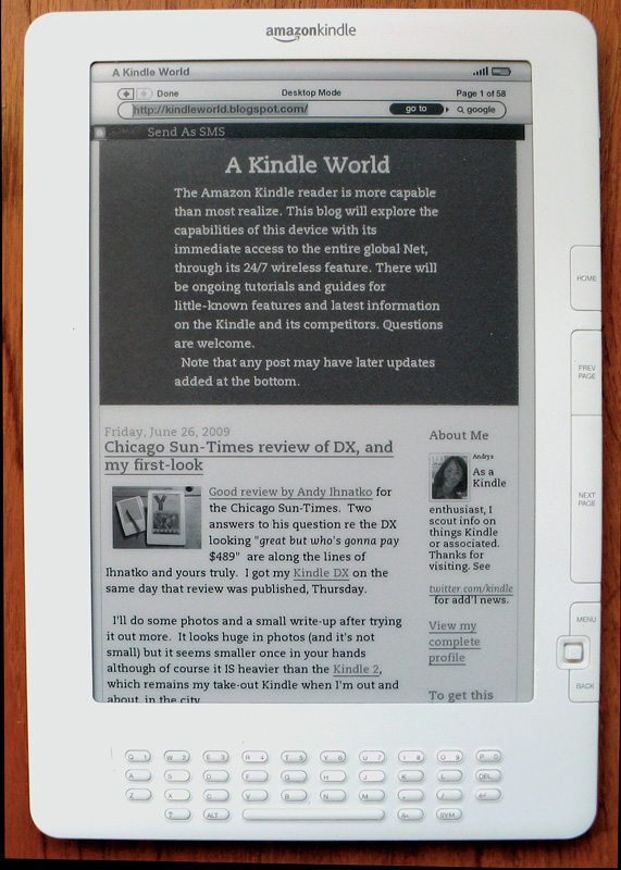 A Kindle World in normal portrait mode