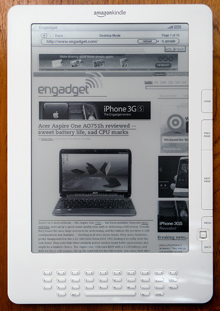 Engadget site works pretty well with the DX and K2