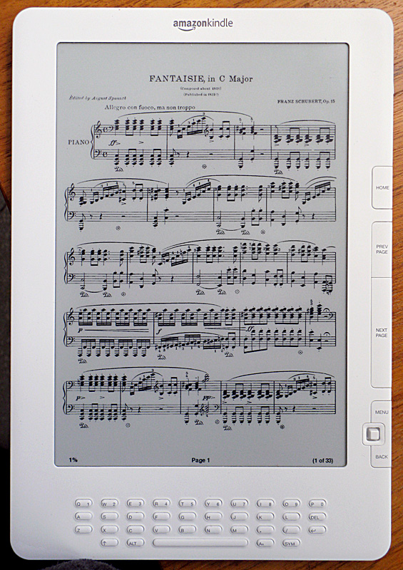 PDF Sheet music - full page