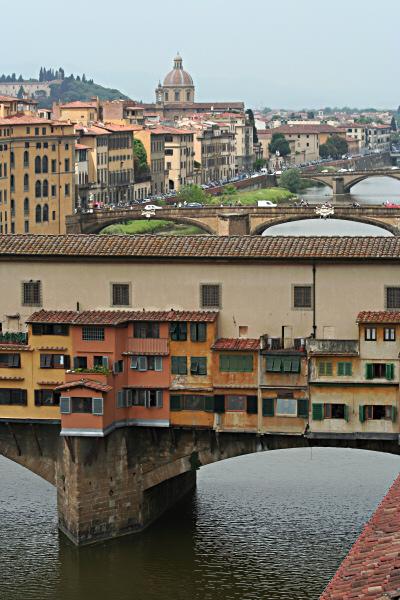 Ponte Vecchio from Uffizi windows above