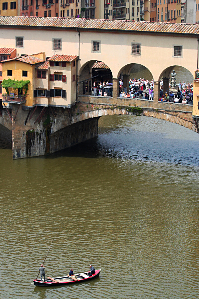 Theyve gone a bit and are approaching Ponte Vecchio
