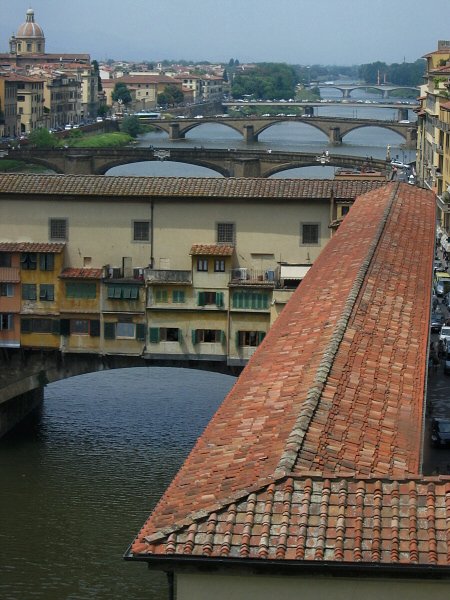 Later well be on the bridge just past Ponte Vecchio