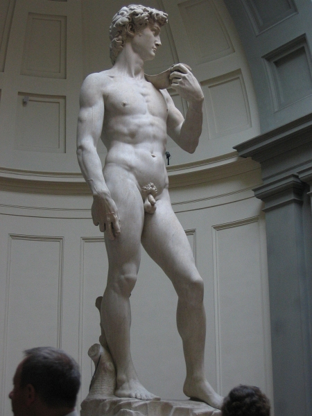 David was cut from a block discarded as useless.