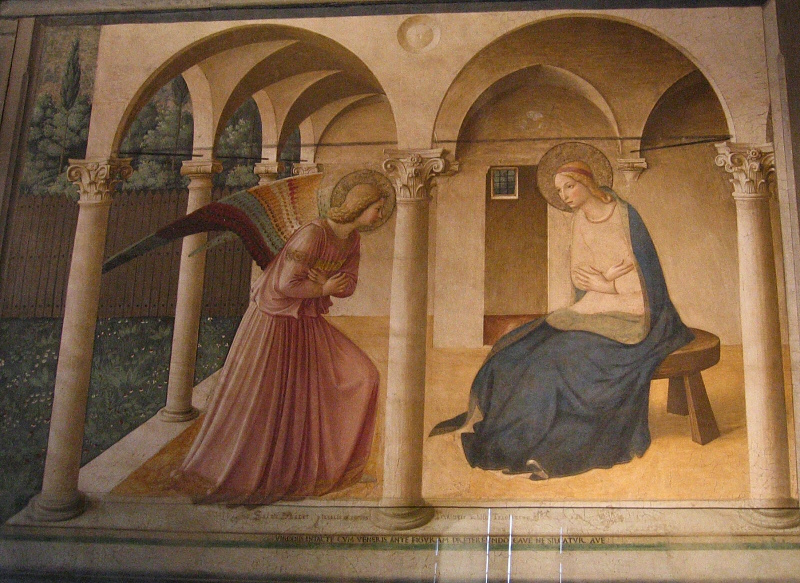 Fra Angelicos Annunciation - at top of stairs-San Marco (nice garden too)