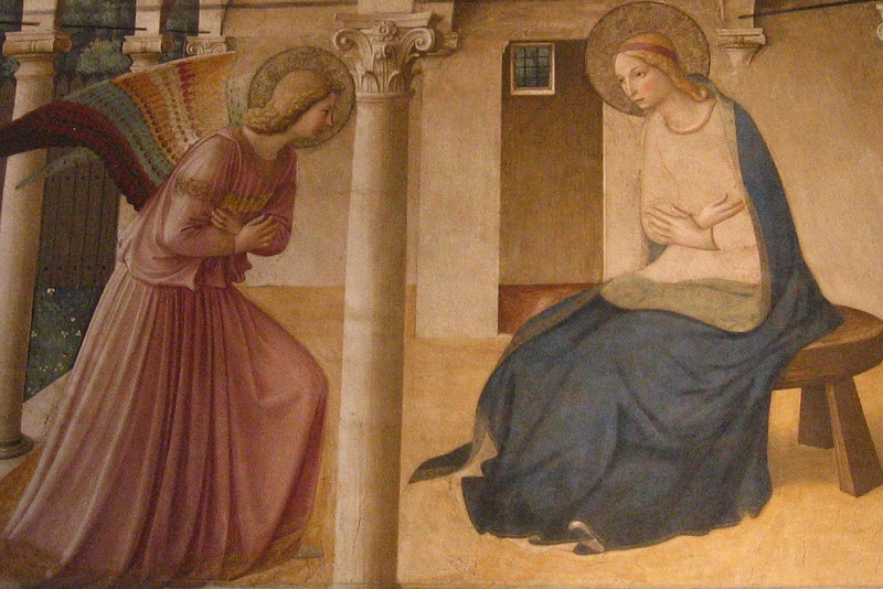 Closer up - Fra Angelico Annunciation