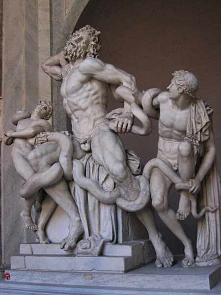 Famous Laocoon origl  (2005 <a href=http://tinyurl.com/yaqpdt target=_blank>theory</a>: Michelangelo forged it)