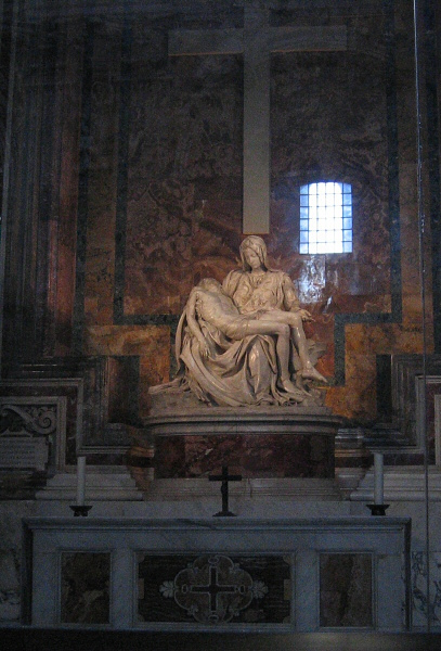 First glimpse of Michelangelos Pieta in St. Peters