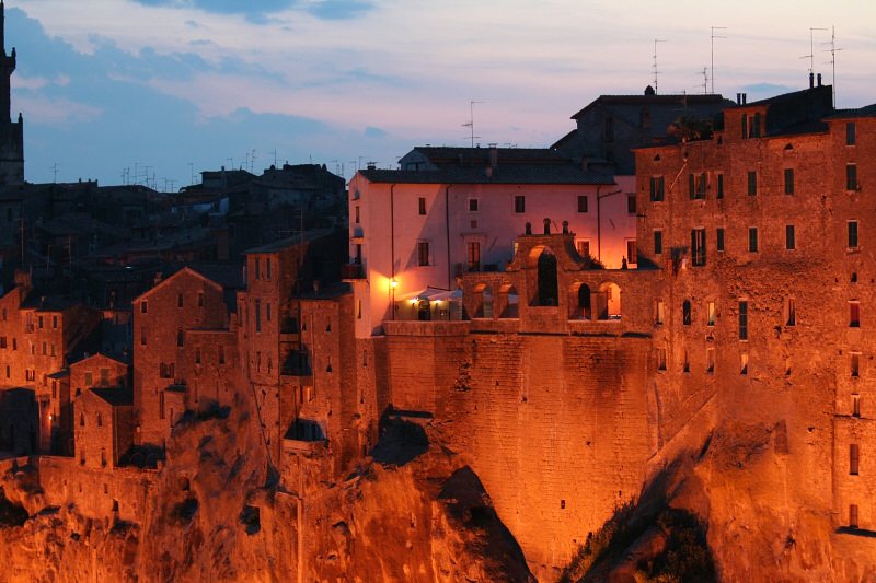 What we saw when arriving at Pitigliano