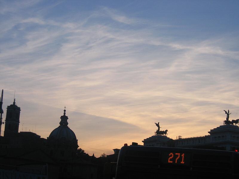 Rome, as night falls