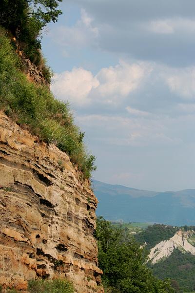 Bagnoregio rock, from bridge