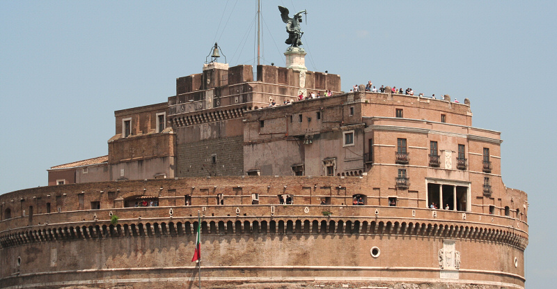 Castel San Angelo from bus