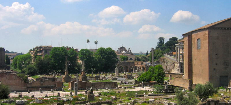 Roman forum, from bus