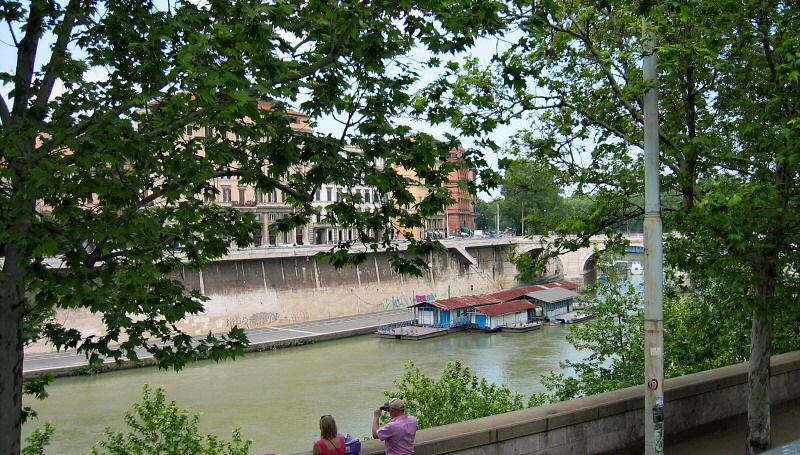 We saw the Tiber only from the bus, alas.