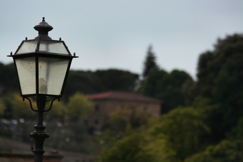 This type of street lamp is pretty common there.