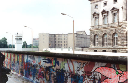 Berlin Wall Wilhelmstrasse 2 - July,1988